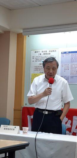前東吳大學校長劉源俊談多元入學的初衷。(立報傳媒記者陳映竹攝)