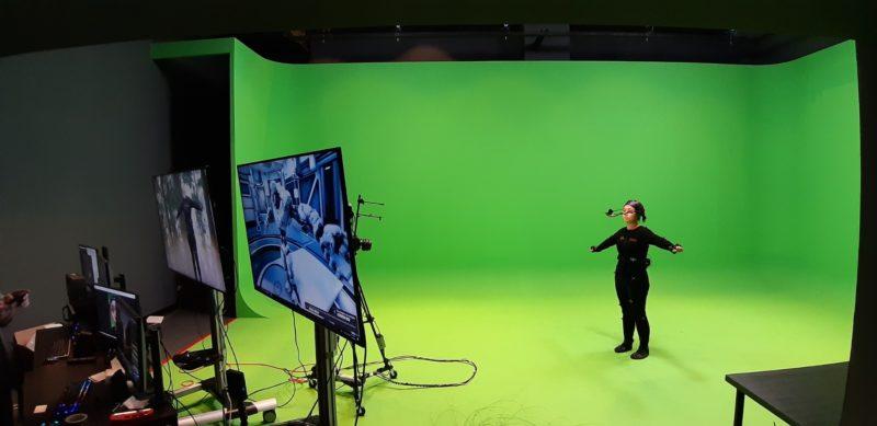 世新與電影「阿凡達」後製團隊合作,打造最新的「動捕與虛擬攝影棚」。(立報傳媒記者陳映竹攝)