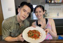 袁艾菲與好友紀言愷同錄製《艾菲的小廚房》